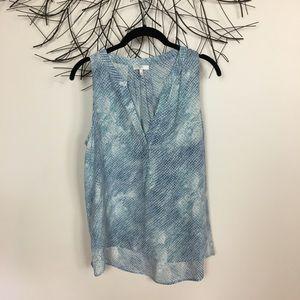 JOIE silk sleeveless blouse. Medium. Blue